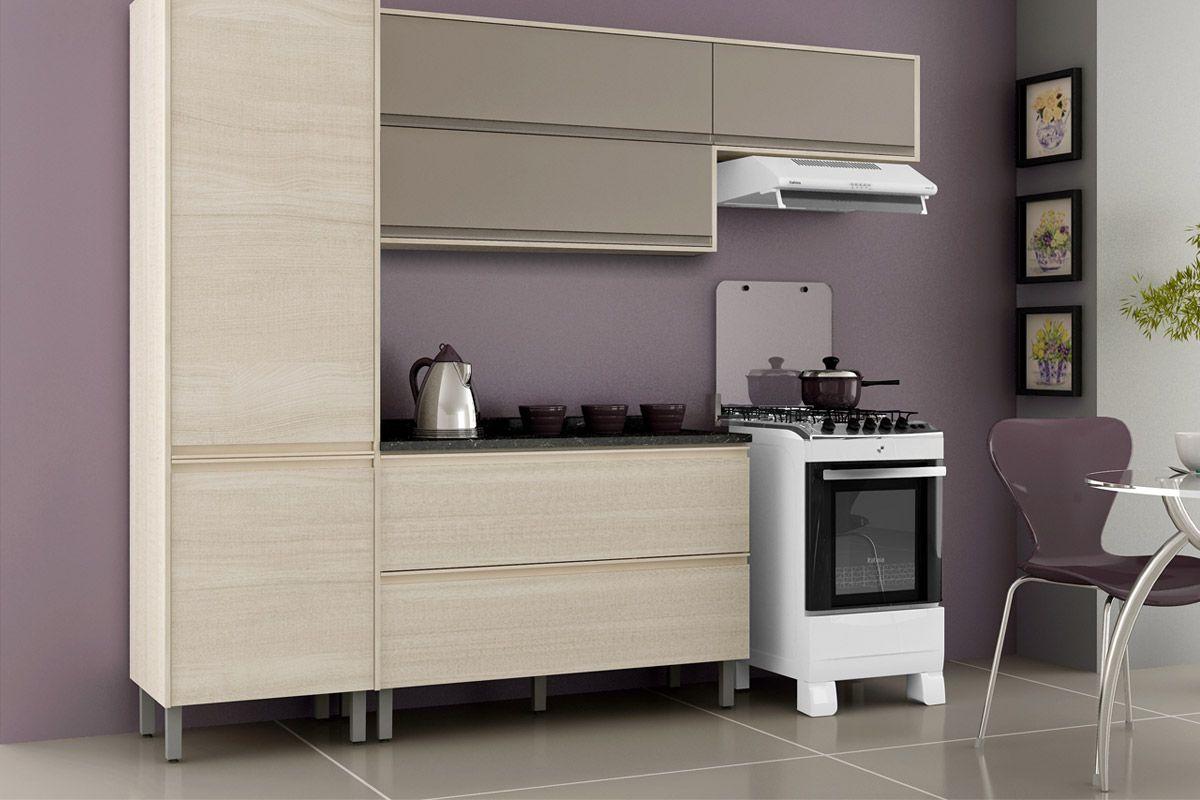 Gabinete (Balcão) de Cozinha Itatiaia Belíssima IGH2 120 ART Madeira  #776954 1200 800