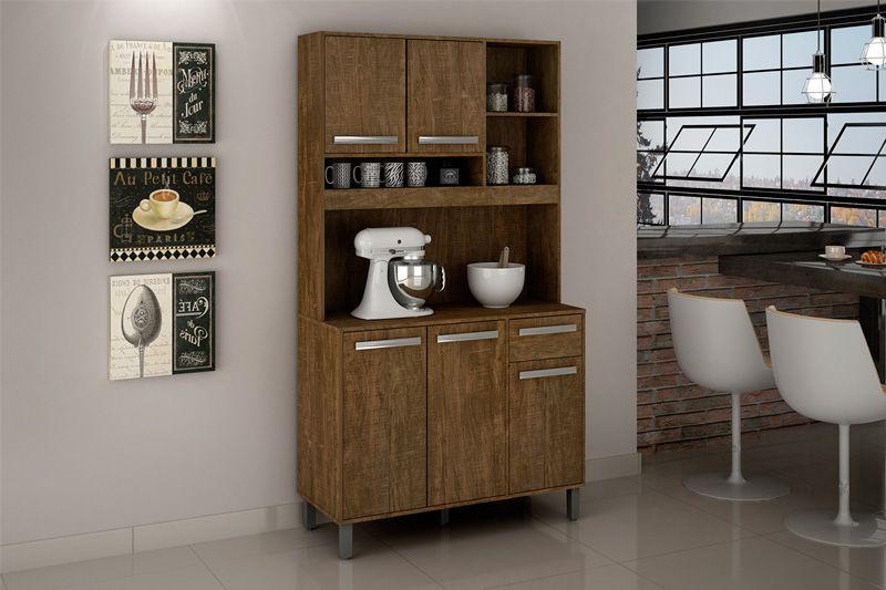 Kit de Cozinha Valdemóveis Ametista