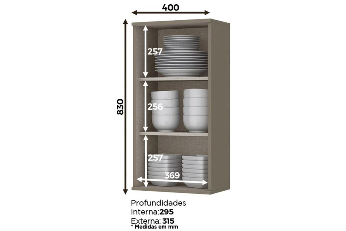 Aéreo de Cozinha Henn Connect c/ 1 Pt 40cm