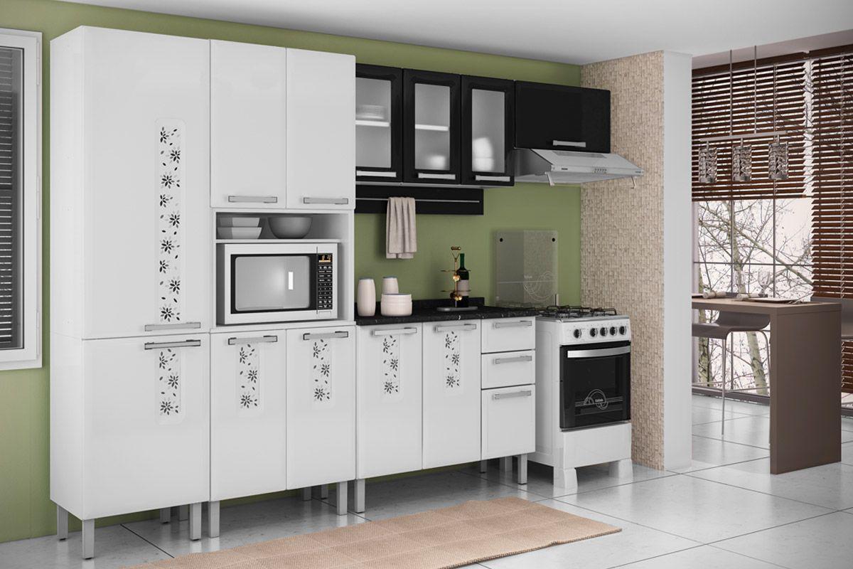Armário de Cozinha Itatiaia Essencial Aço 3 Portas c/ vidro até 40%  #7B6350 1200x800