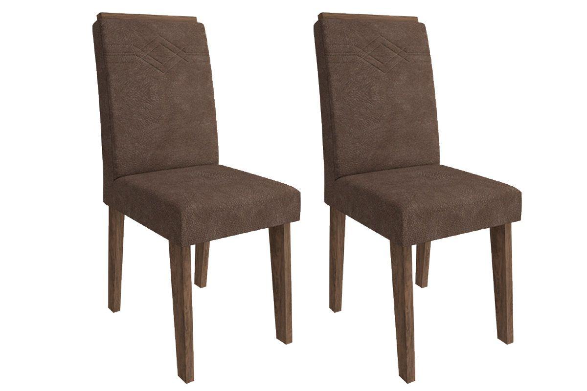 Cadeira Cimol TaísCor Marrocos- Assento/Encosto Cacau
