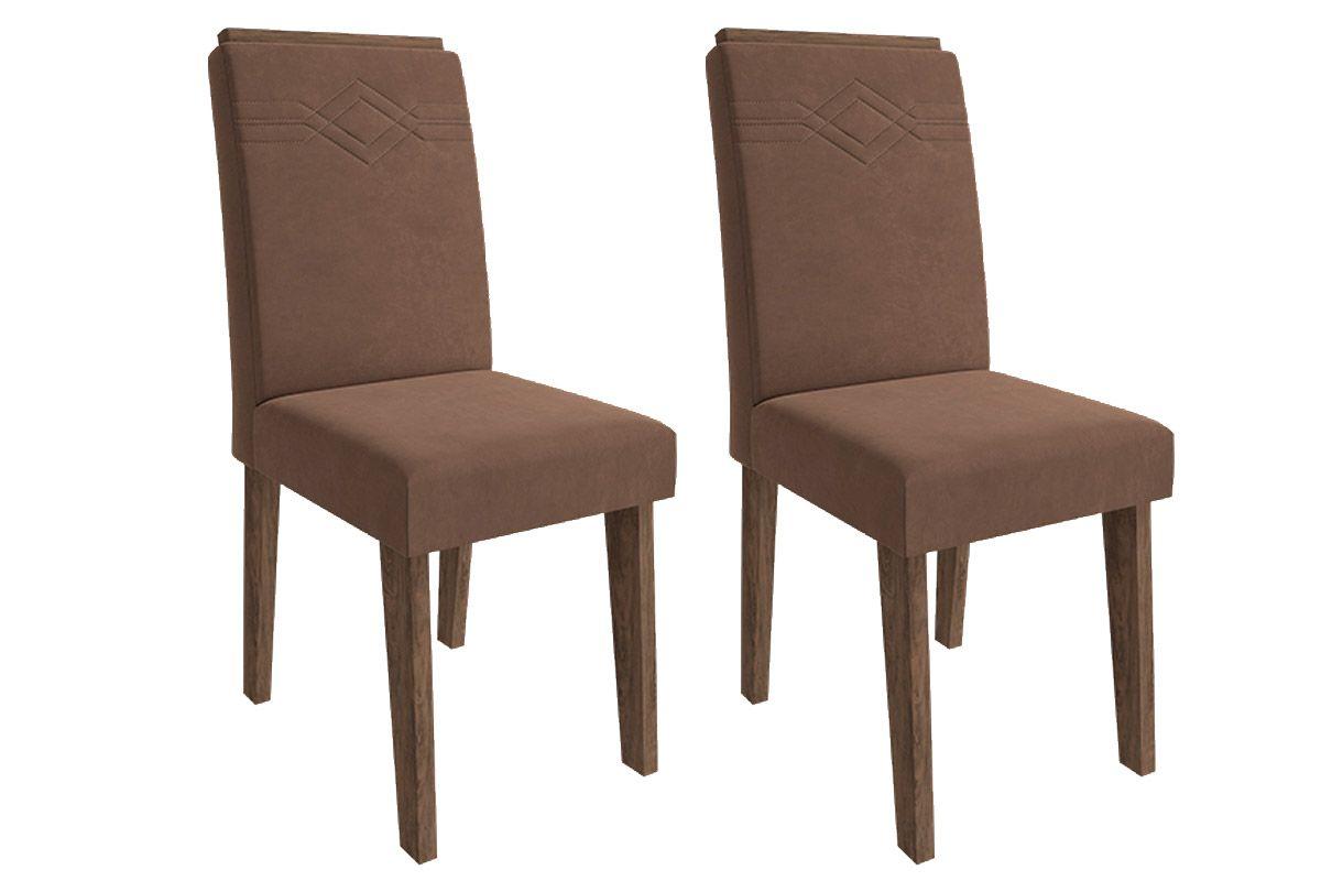 Cadeira Cimol TaísCor Marrocos- Assento/Encosto Chocolate