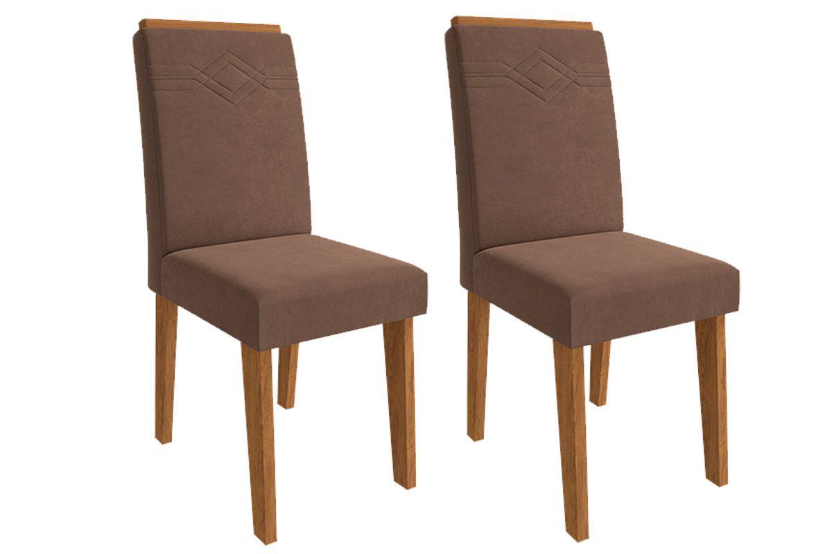 Cadeira Cimol TaísCor Savana- Assento/Encosto Chocolate