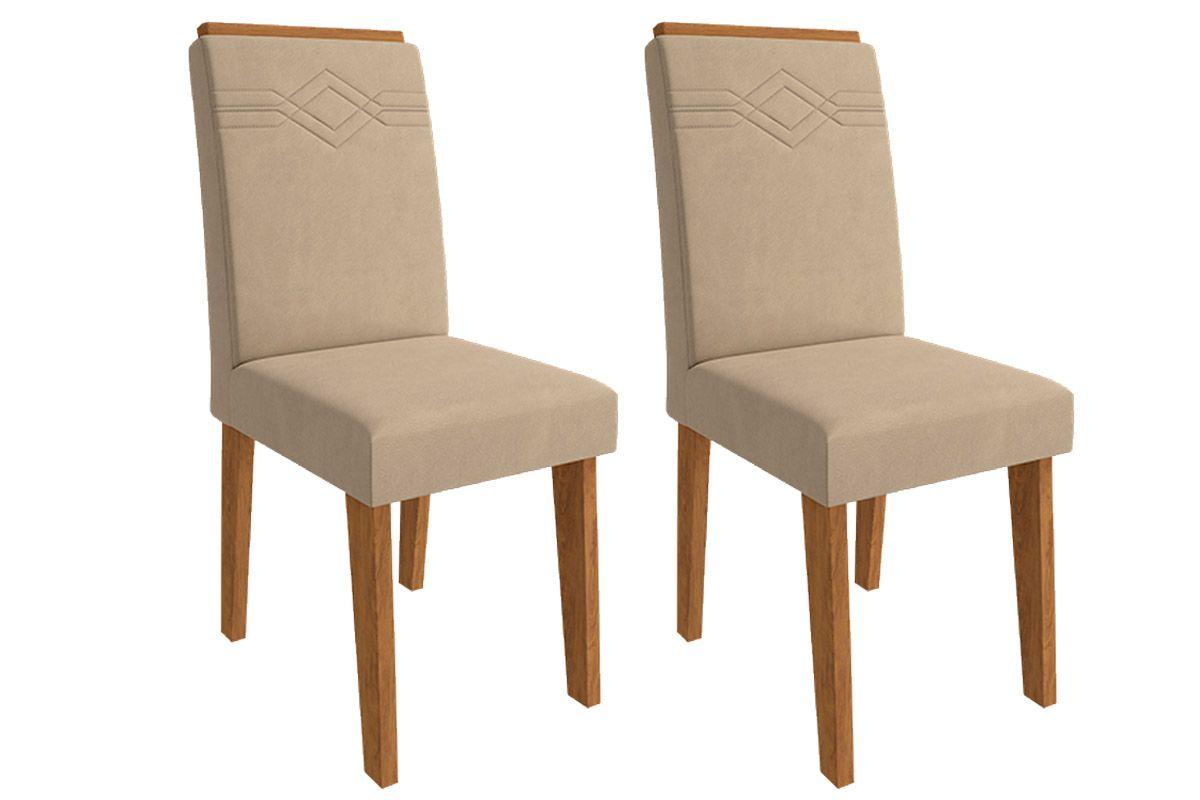 Cadeira Cimol TaísCor Savana  -  Assento/Encosto Caramelo