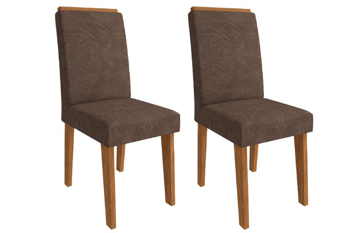 Cadeira Cimol TaísCor Savana- Assento/Encosto Cacau