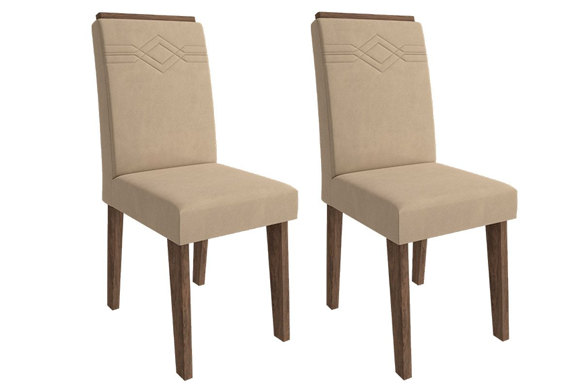 Cadeira Cimol TaísCor Marrocos  -  Assento/Encosto Caramelo