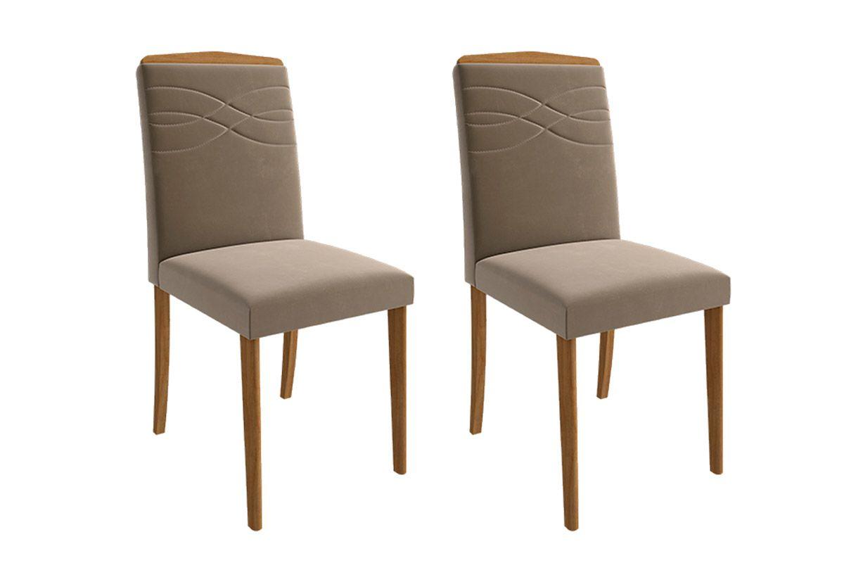 Cadeira Cimol Vanessa Madeira (Jogo c/ 2 unidades)Cor Madeira - Assento/Encosto Joli