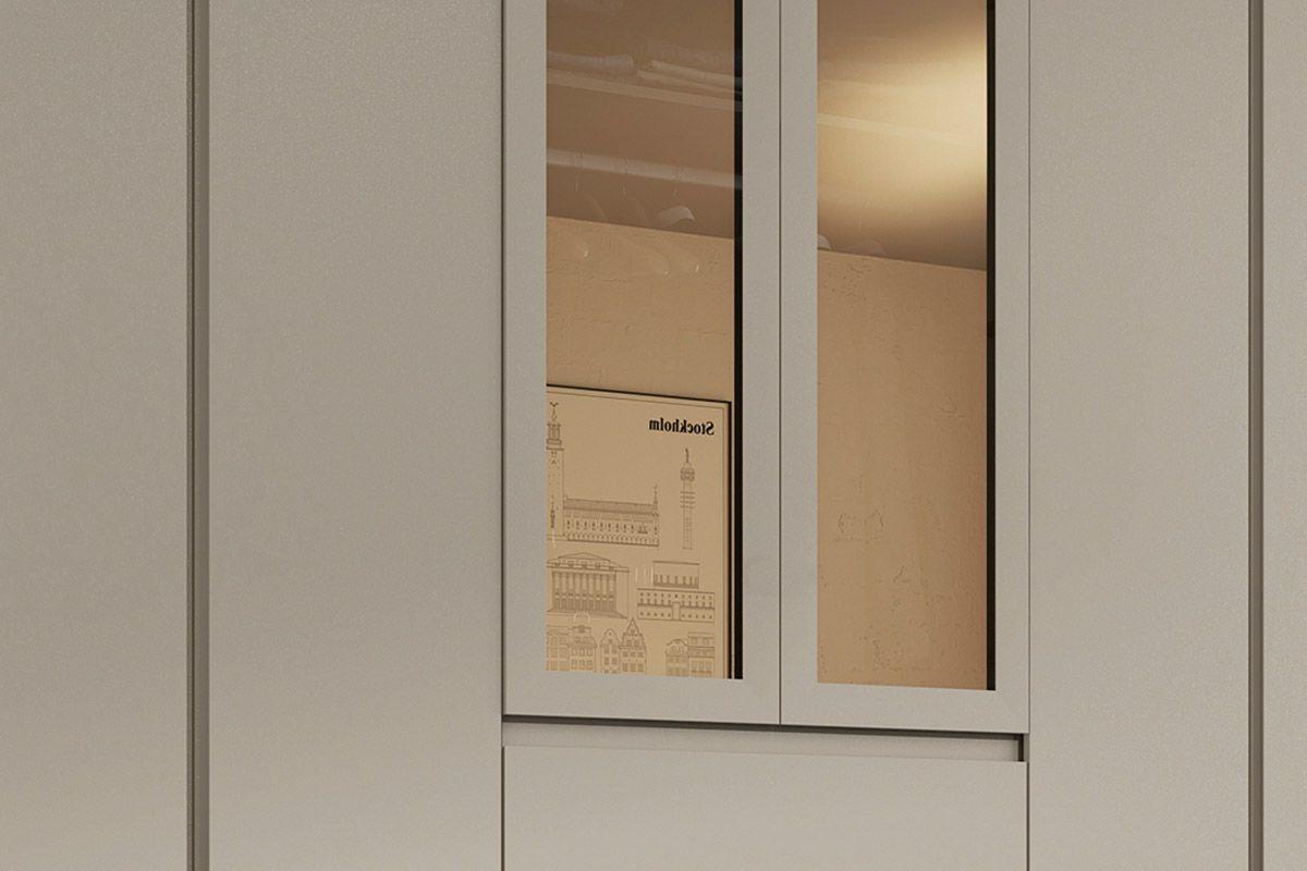 Guarda Roupa Henn Ornato 6 Portas 4 Gavetas - c/ Vidro Reflecta