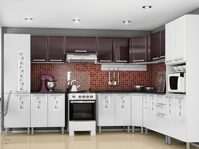 Aparador Baixo Para Sofa ~ Armário de Cozinha Itatiaia Essencial Aço u00c2ngulo até 40% OFF Filhao com