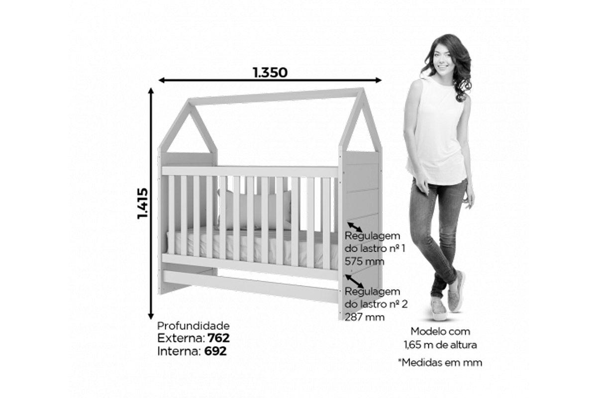 Berço e Mini Cama Infantil Henn Montessoriano 2 em 1