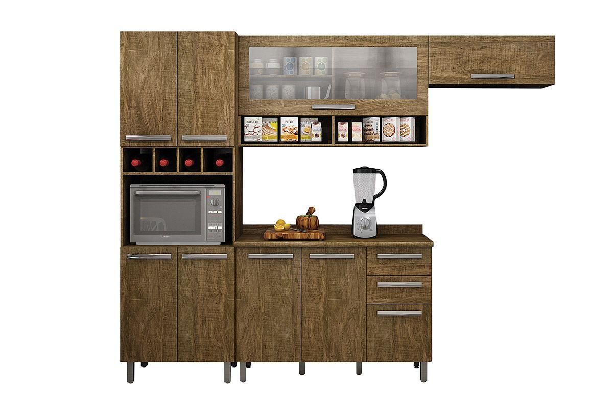Conjunto Cozinha Modulada Valdemóveis Pérola 4 Peças