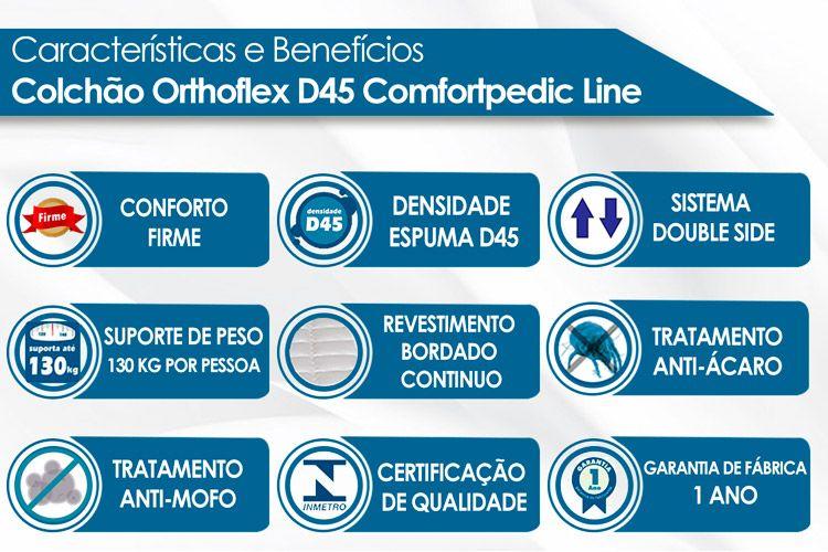 Colchão Orthoflex de Espuma D45 Comfortpedic Line