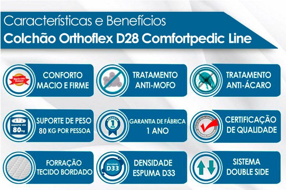 Colchão Orthoflex de Espuma D28 Comfortpedic Line