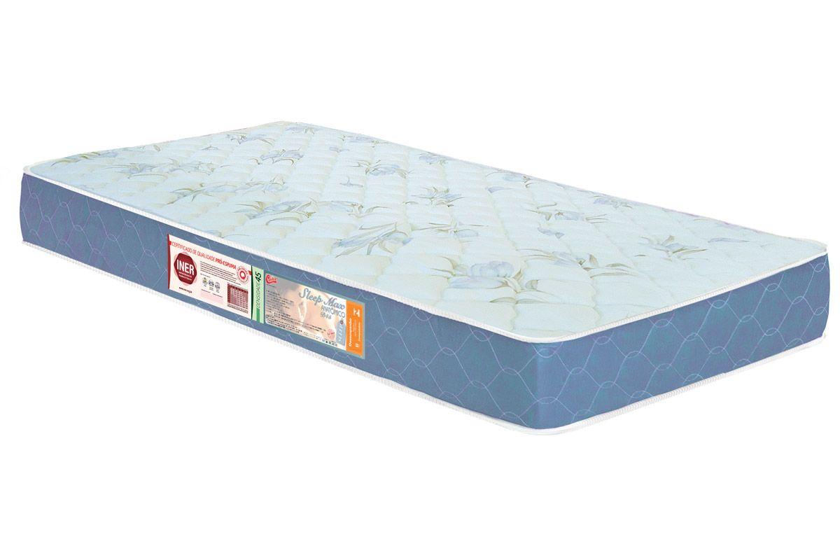 Colchão Castor D45 Sleep Max 18cmColchão Solteiro - 0,78x1,88x0,18 - Sem Cama Box
