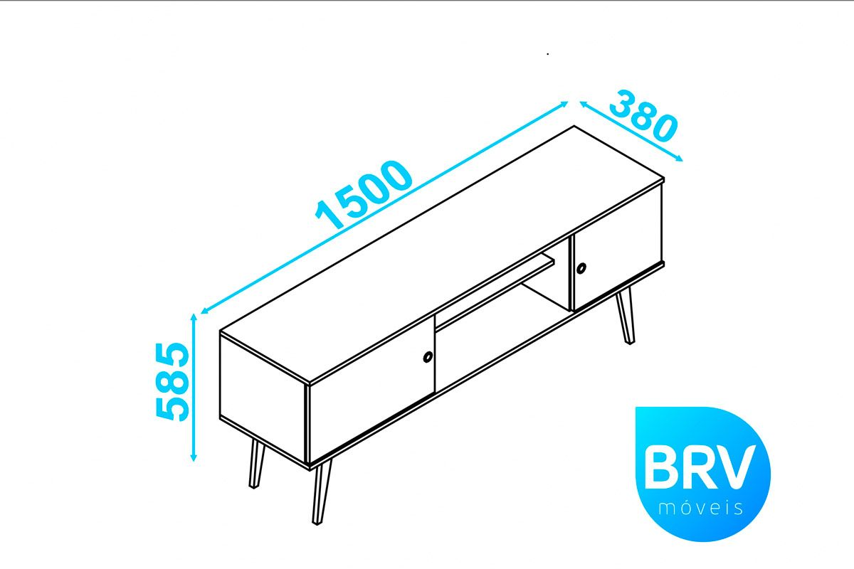 Rack Wood BRV BPI 11 c/2 Portas