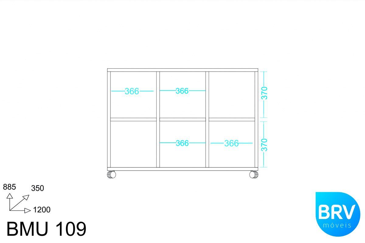 Armário Multiuso BRV BMU 109 c/ 5 Nichos e 1 Prateleira