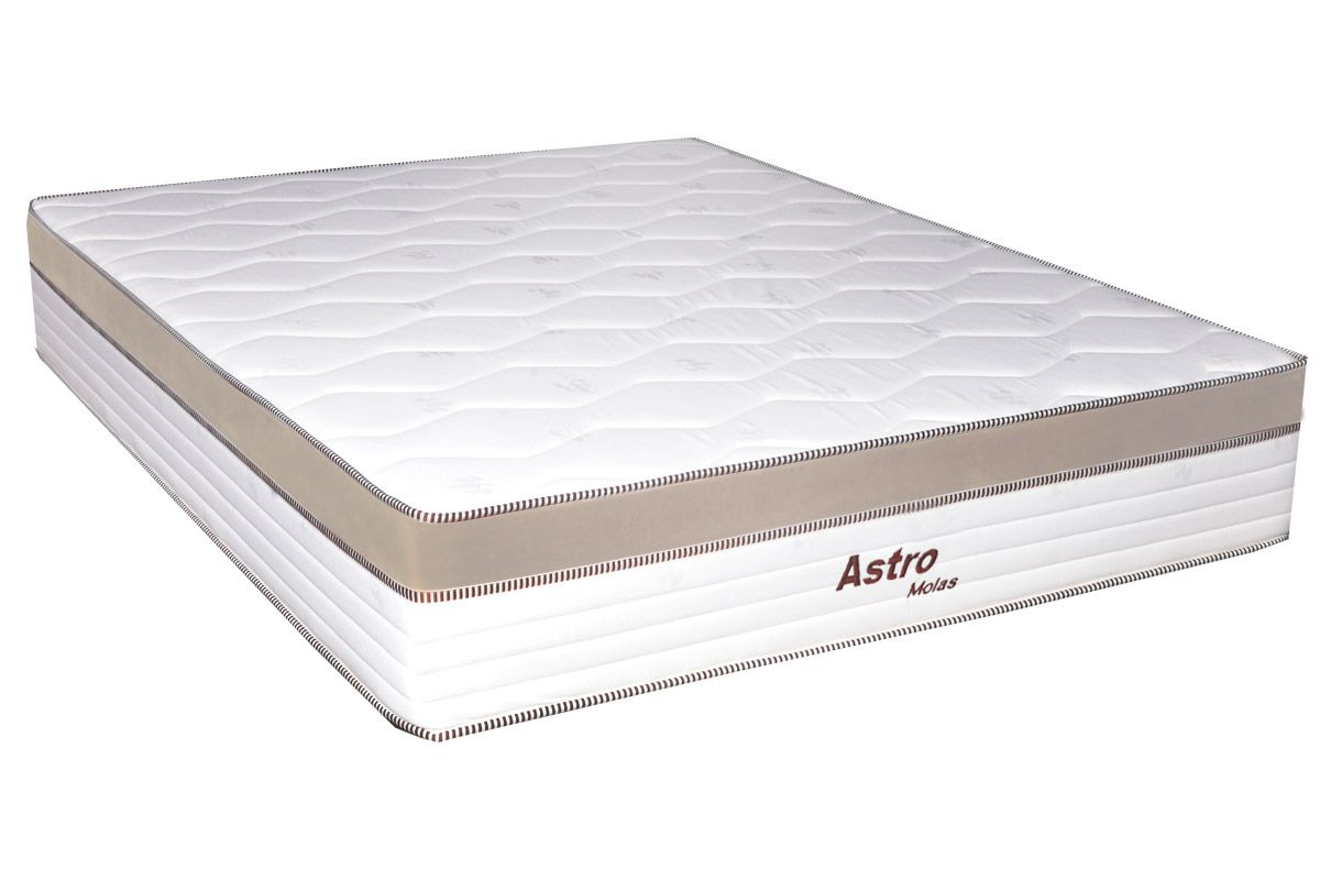 Colchão de Molas Pocket Astro Europilow  - Branco/BegeColchão Queen Size - 1,58x1,98x0,32 - Sem Cama Box