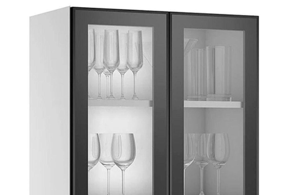 Armário de Cozinha Itatiaia Exclusive Aço ARM 2PT VD ALTO G 65 c/ 2 Portas de Vidro
