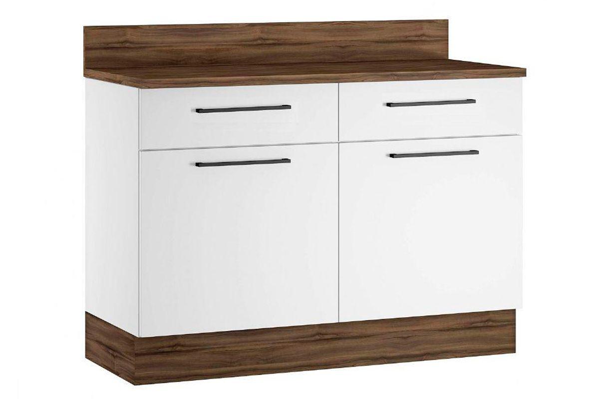 Gabinete (Balcão) de Cozinha Itatiaia Exclusive Aço BALC 2PT 2GAV 120 2 Portas e 2 Gavetas c/TampoCor Branco