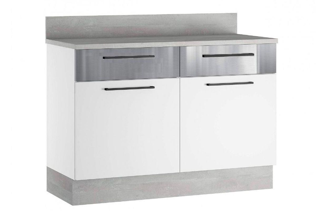 Gabinete (Balcão) de Cozinha Itatiaia Exclusive Aço BALC 2PT 2GAV 120 2 Portas e 2 Gavetas c/Tampo