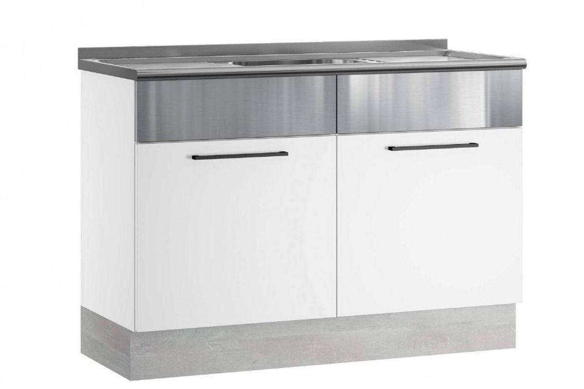 Gabinete (Balcão) de Cozinha Itatiaia Exclusive Aço BALC 2PT 120 PIA 2 Portas c/ Pia