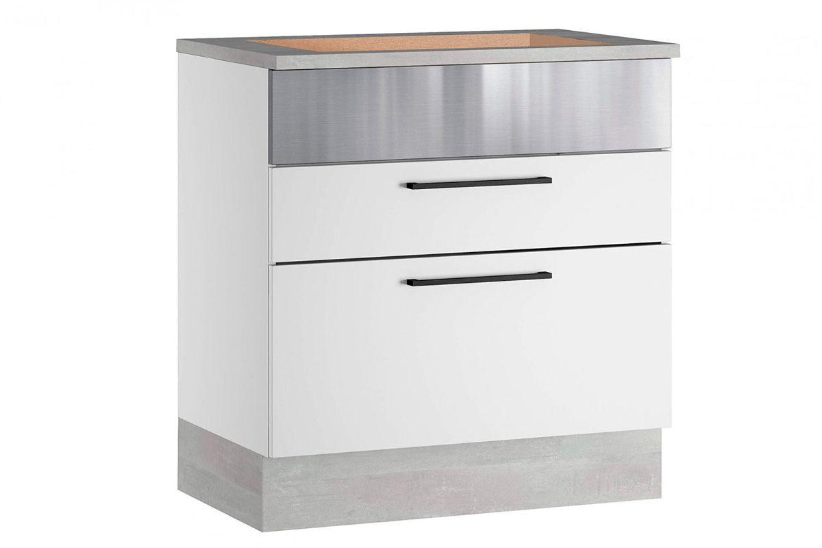 Gabinete (Balcão) de Cozinha Itatiaia Exclusive Aço BALC 2GAV 80 P/COOK 5B 2 Gavetas c/Tampo