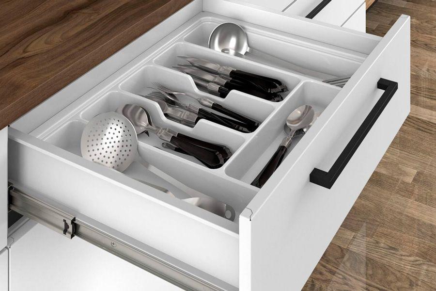 Gabinete (Balcão) de Cozinha Itatiaia Exclusive Aço BALC 1PT 1GAV 65 ESQ - 1 Porta e 1 Gaveta c/Tampo