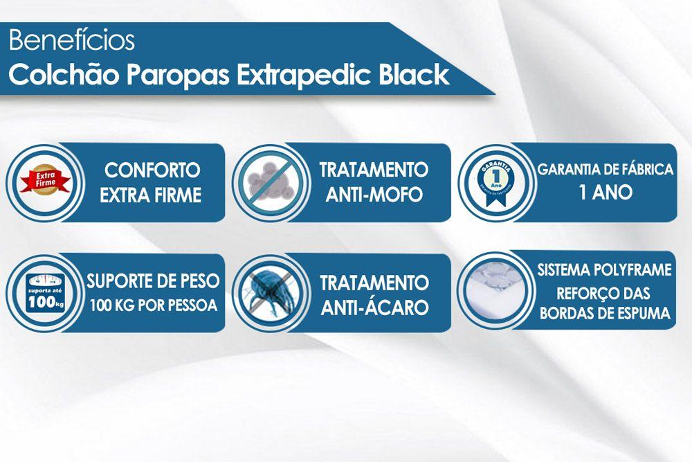 Colchão Paropas de Molas Extrapedic Black