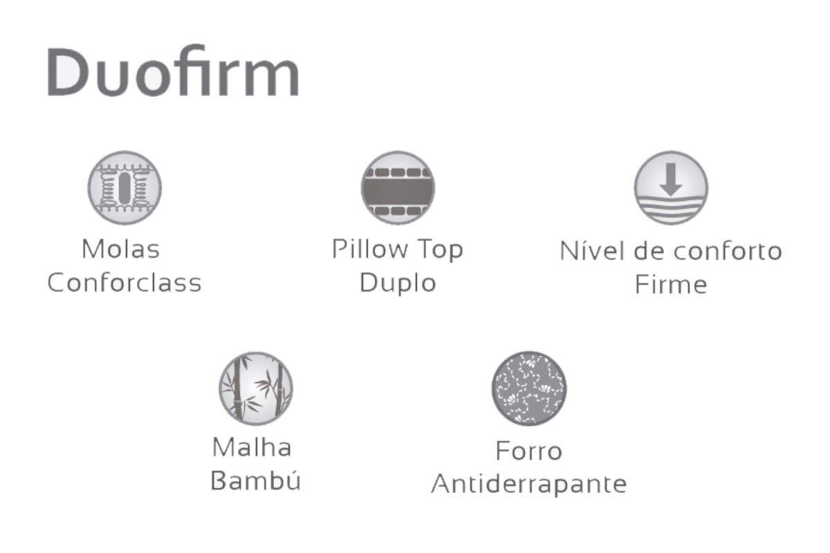 Colchão Herval Molas Confort Class Duofirm Pillow Top