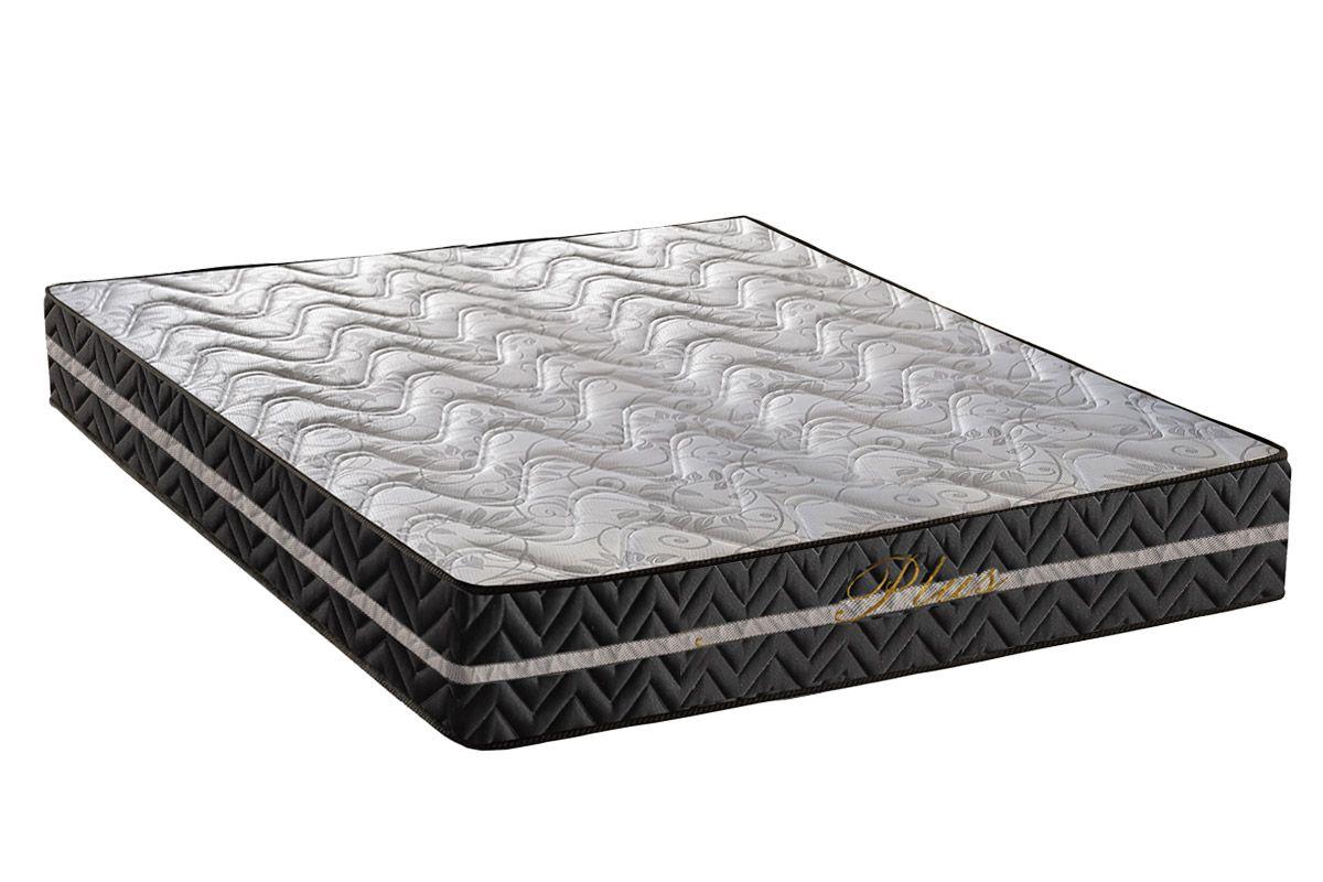 Colchão Paropas Espuma D28 Pasquale Plus Black 25cmColchão Casal - 1,38x1,88x0,25 - Sem Cama Box