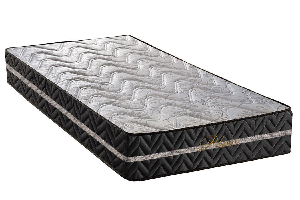 Colchão Paropas Espuma D28 Pasquale Plus Black 25cmColchão Solteiro - 0,78x1,88x0,25 - Sem Cama Box