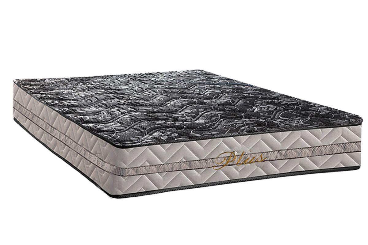 Colchão Paropas Espuma D33 Pasquale Plus Black 25cmColchão Queen Size - 1,58x1,98x0,25 - Sem Cama Box
