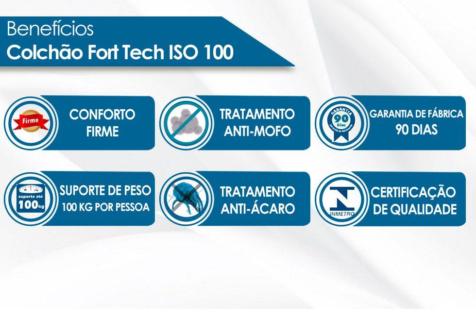Colchão Ortobom de Espuma D33 ISO 100 Ultra  Firme