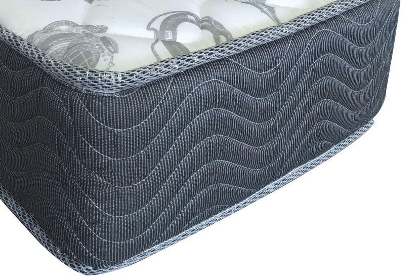 Conunto:Colchão Ortobom D33 ISO 100 Ultra  Firme 18cm + Cama