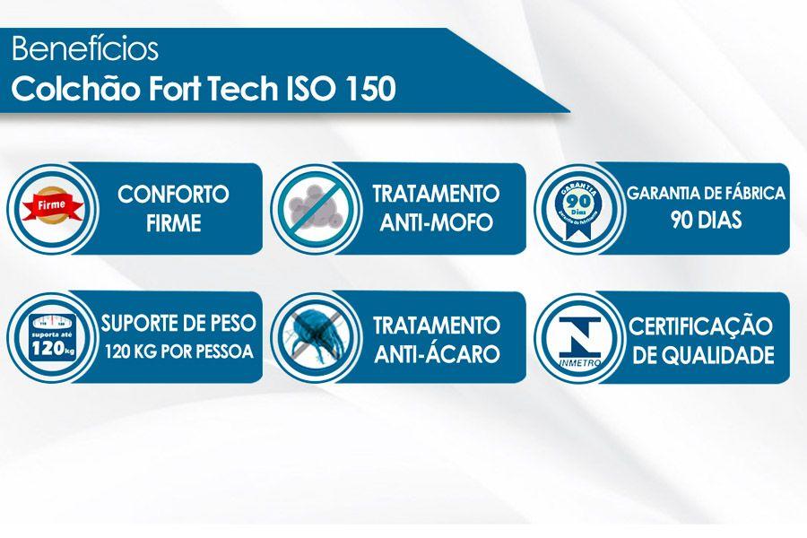 Conjunto- Colchão Ortobom D45 ISO 150 Mega Firme 18cm + Cama