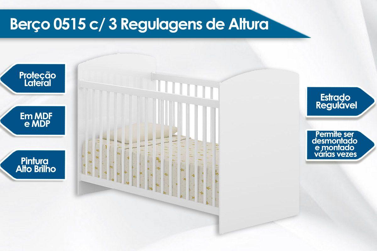 Berço Multimóveis 3 Regulagens de Altura 0515