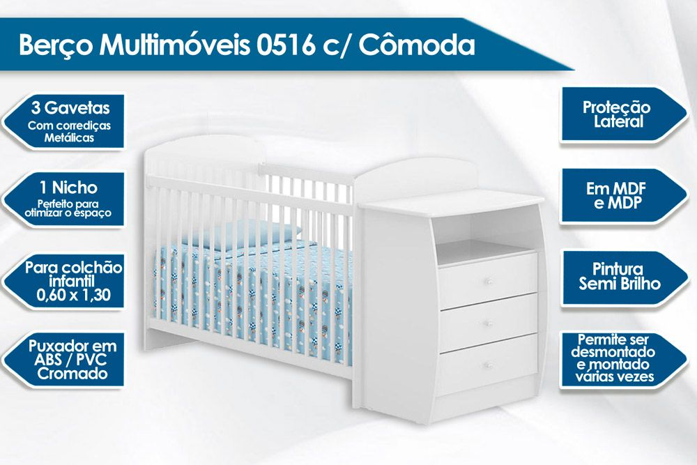 Berço Cômoda Multimóveis 0516
