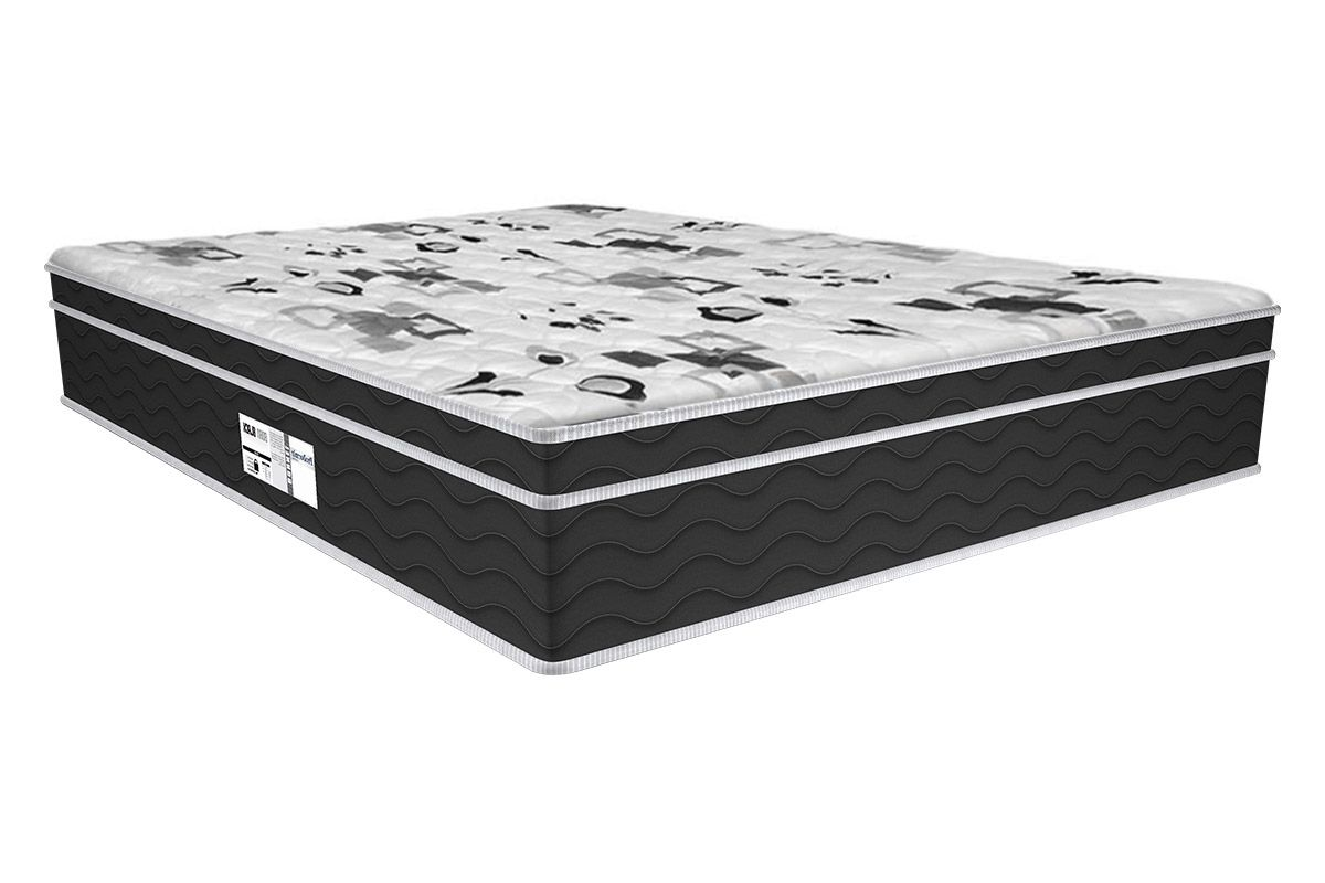 Colchão Probel de Molas Prolastic ProDormir Born Black 30cmColchão Casal - 1,38x1,88x0,30 - Sem Cama Box