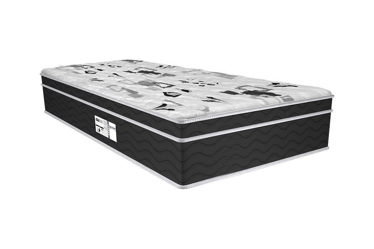 Colchão Probel de Molas Prolastic ProDormir Born Black 30cmColchão Solteiro - 0,88x1,88x0,30 - Sem Cama Box