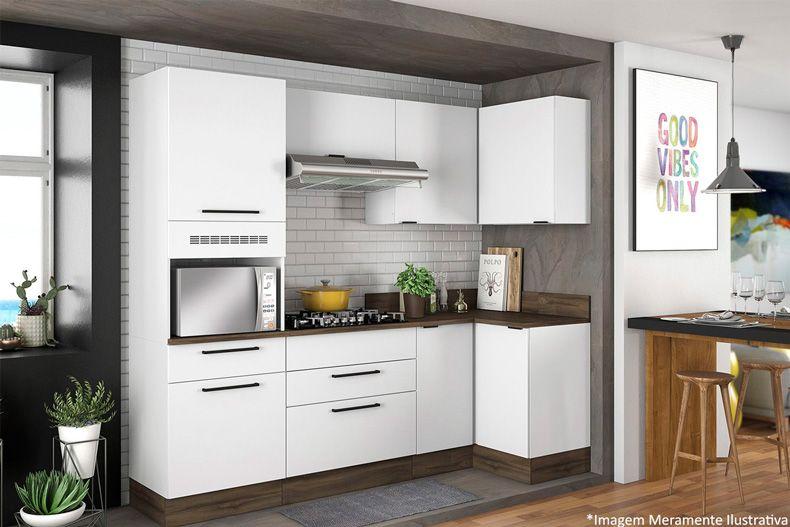 Gabinete Cozinha Itatiaia Exclusive BALC CANTO 2P Aço c/Tampo