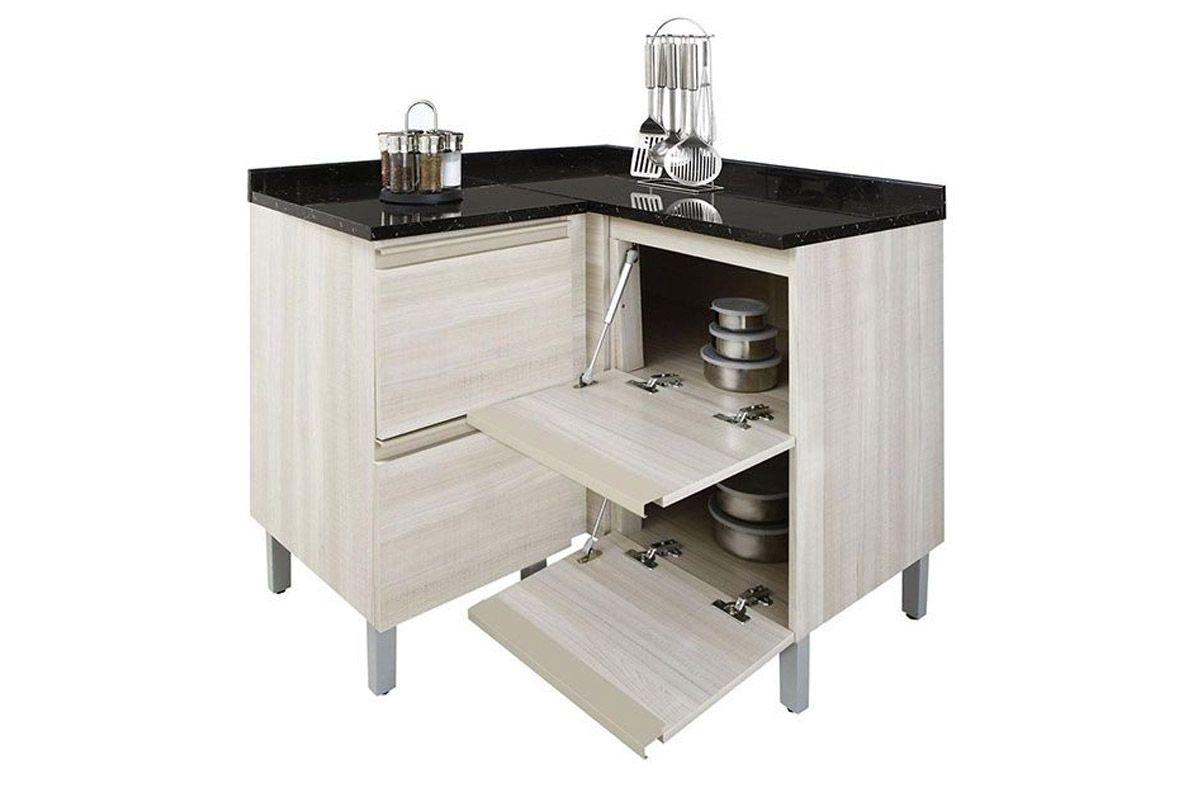 Gabinete de Cozinha Itatiaia Belíssima Madeira Canto Reto 4 Portas  #595145 1200x800