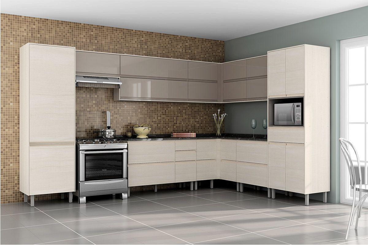 Gabinete de Cozinha Itatiaia Belíssima Madeira Canto Reto 4 Portas até 40% OF # Armario De Cozinha Irmol Orquidea