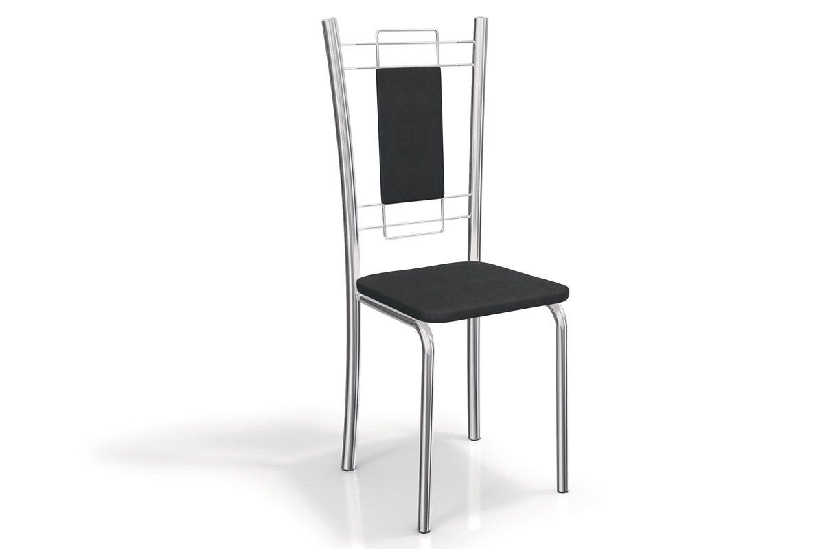 Cadeira Kappesberg Florença Aço Cromada 2C005CRCor Cromada  -  Assento Preto 110
