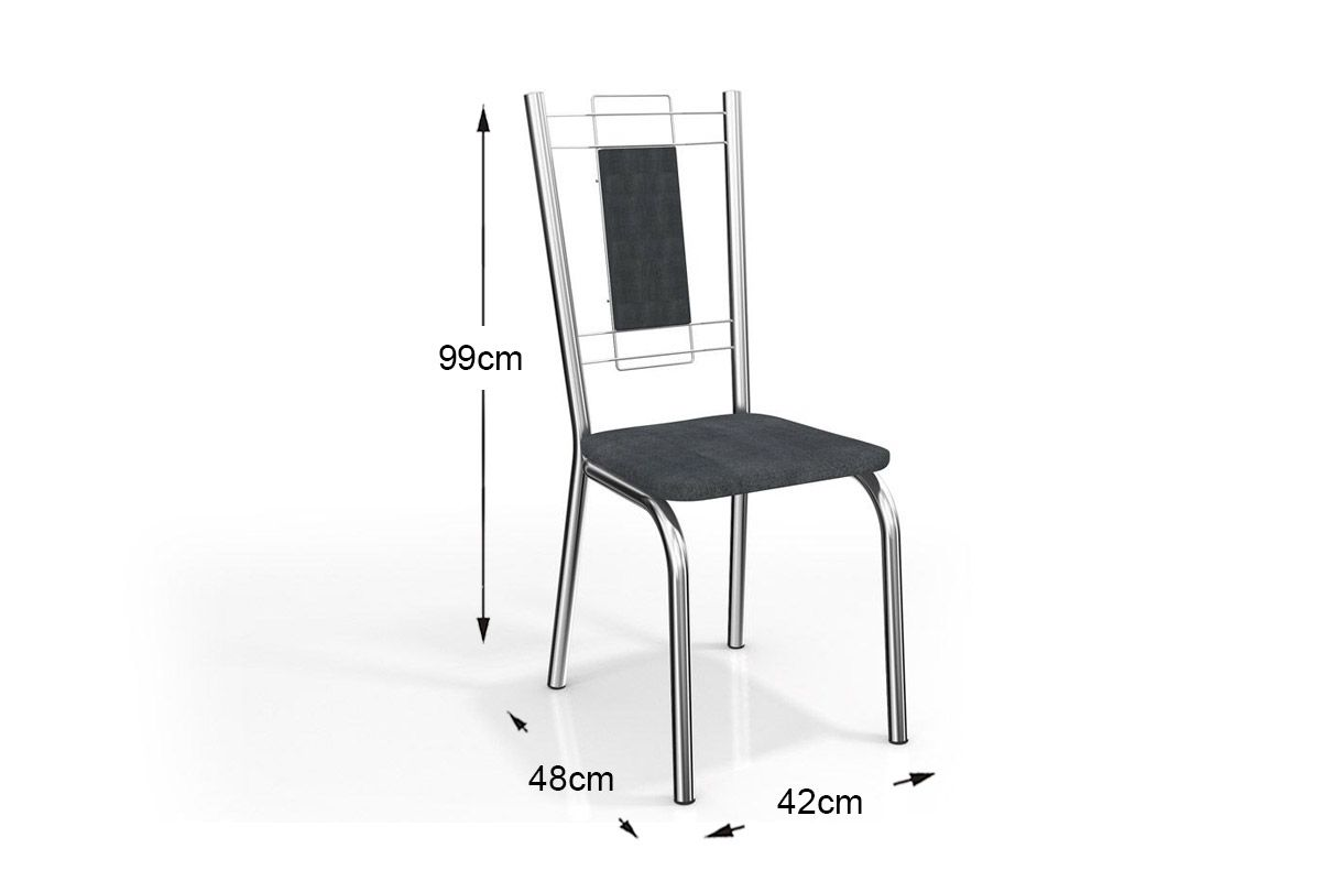 Cadeira Kappesberg Florença Aço Cromada 2C005CR