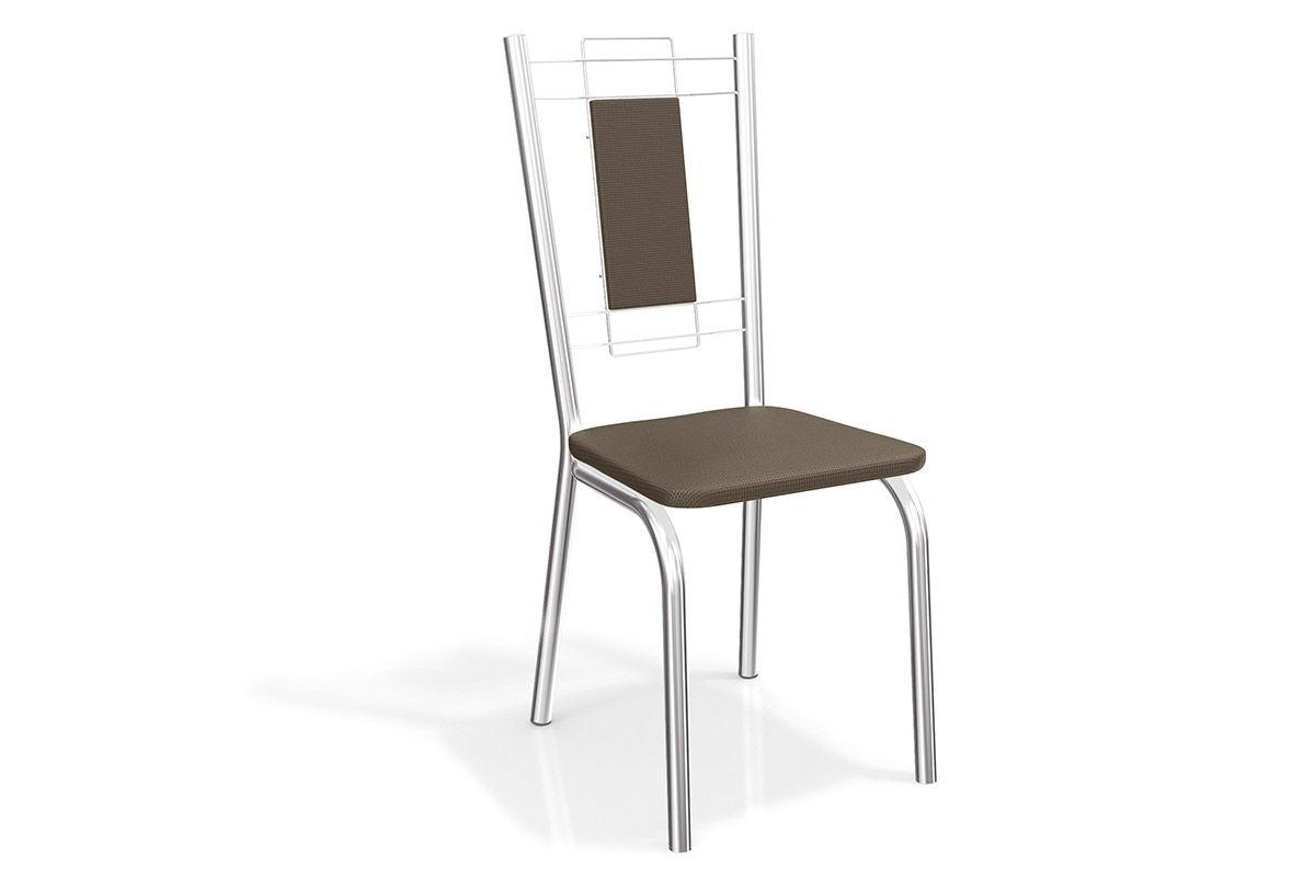 Cadeira Kappesberg Florença Aço Cromada 2C005CRCor Cromado  -  Assento Marrom 21
