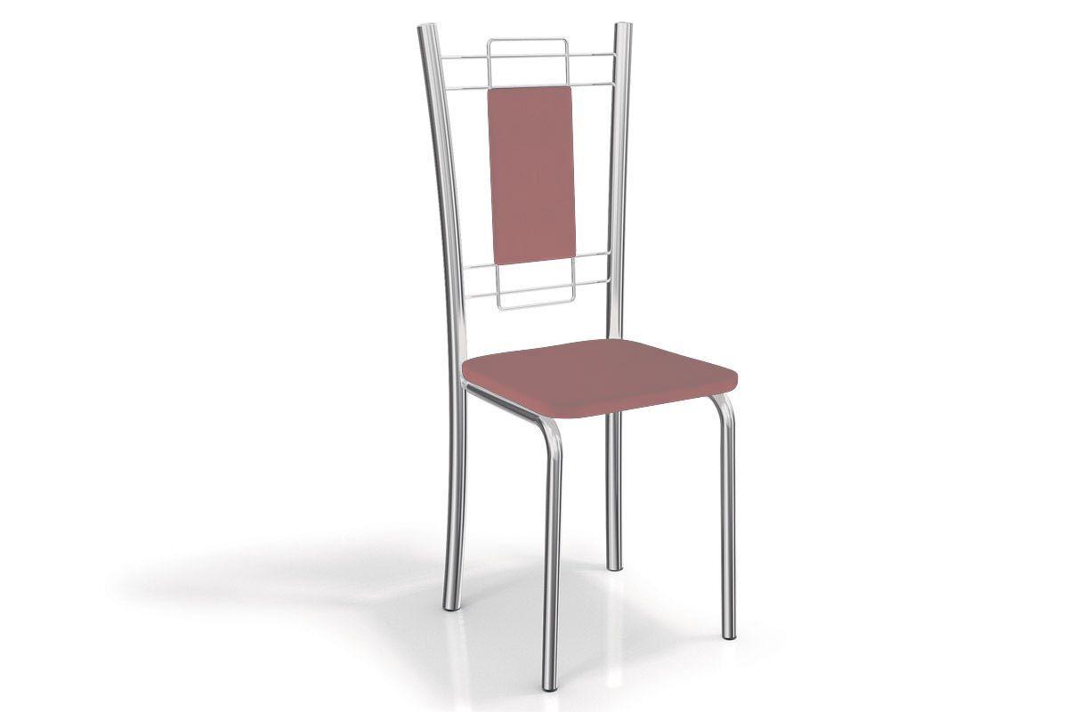 Cadeira Kappesberg Florença Aço Cromada 2C005CRCor Cromado  -  Assento Salmão 23