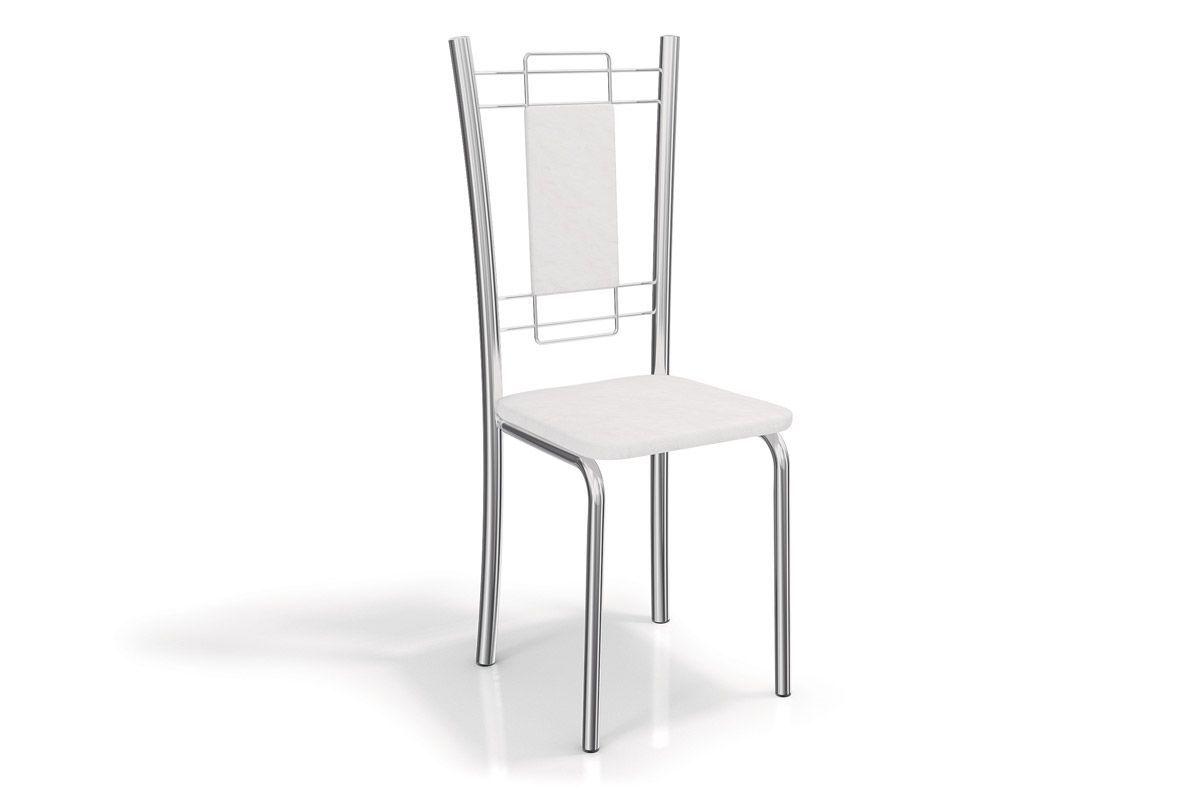Cadeira Kappesberg Florença Aço Cromada 2C005CRCor Cromada  -  Assento Branco 106