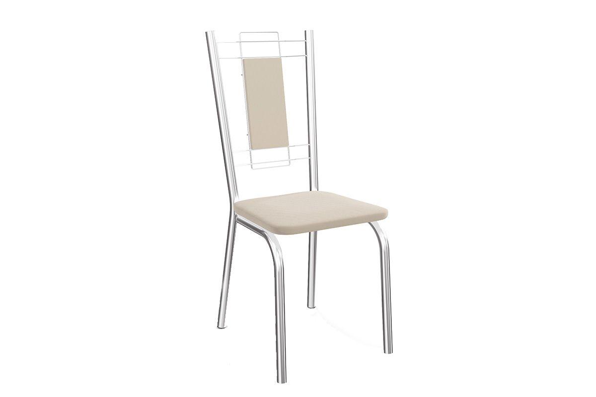 Cadeira Kappesberg Florença Aço Cromada 2C005CRCor Cromada  -  Assento Nude 16