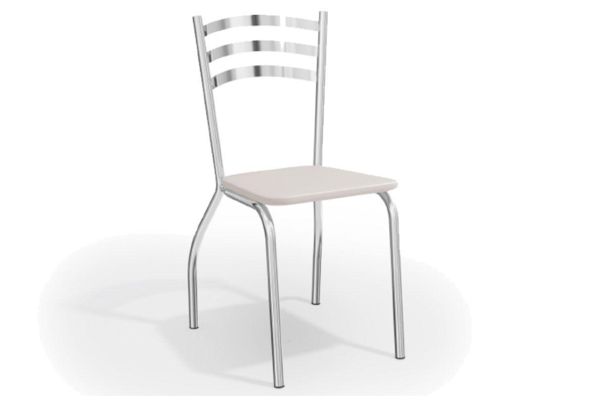 Cadeira Kappesberg Portugal Cromada 2C007CRCor Cromada  -  Assento Branco 106