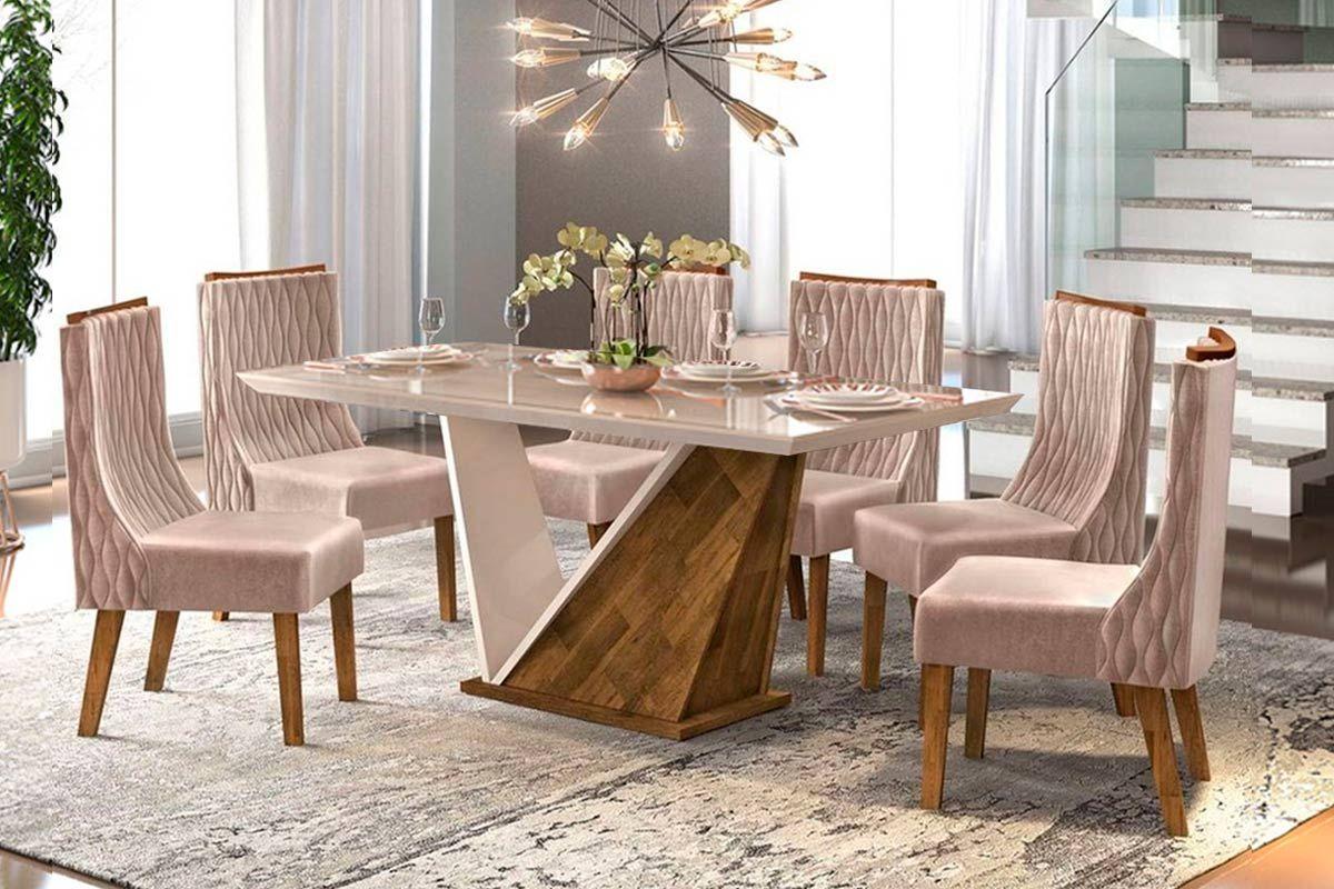 Image of: Sala De Jantar Dj Moveis Forme 6 Cadeiras Jade Ate 40 Off Filhao Com